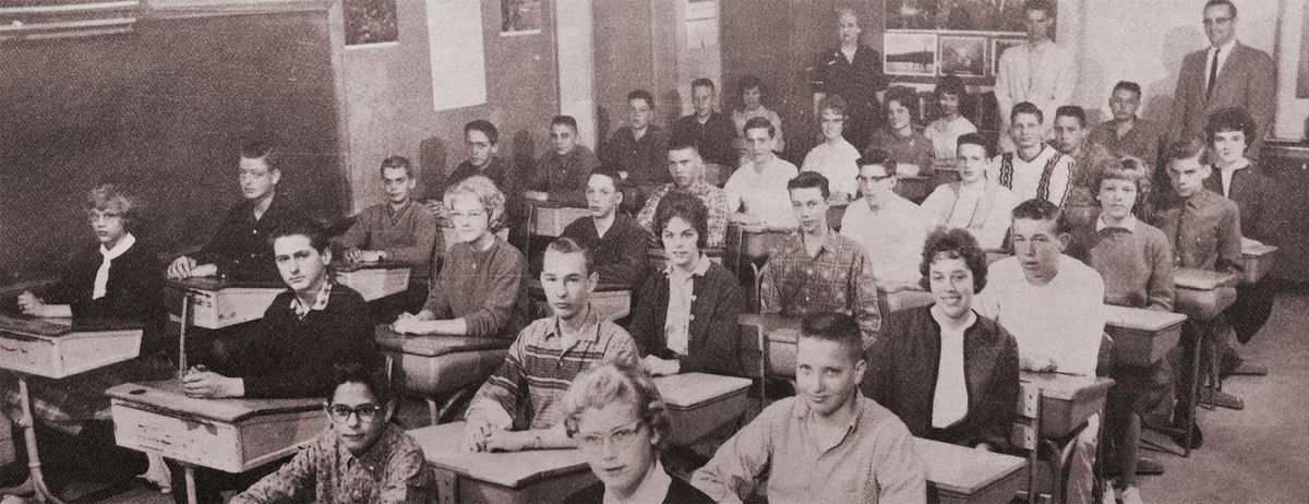 ACS History -inside school room