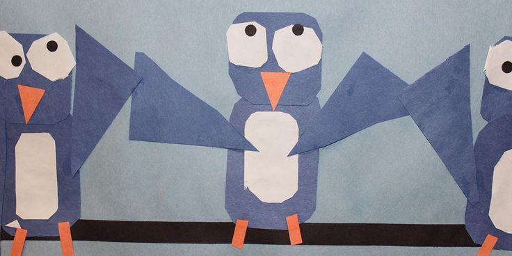 elementary -art -blue birds