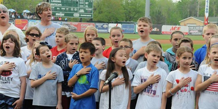 3rd Grade -Singing at the Whitecaps