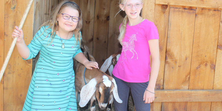 Goat Cleanup Girls