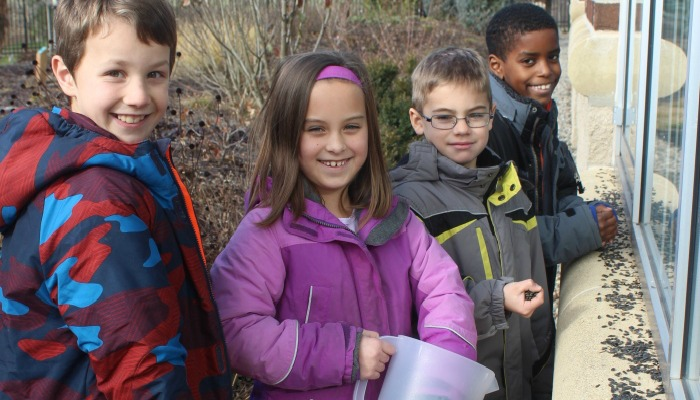 Kids with Bird Seed