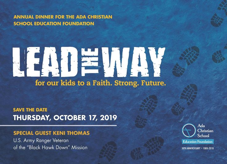 Lead the Way Save the Date 2019