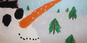 elementary -art -snowman
