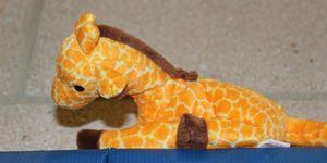 preschool -stuffed giraffe