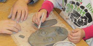 elementary -art -clay face