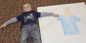 elementary -art -boy -self portrait -boy