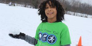 middle school -boy -snow ball