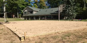 New volleyball court at Camp Tall Turf