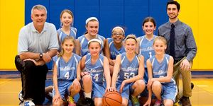 5th grade girls basketball -2015 -team photo