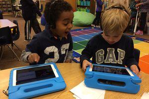 Kindergarten - iPad listening station