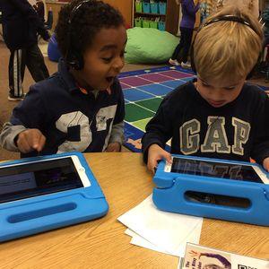 Enlarge image kindergarten -technology -iPad -listening station
