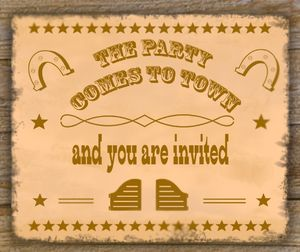 Mother-Son Western Cookout -invite top