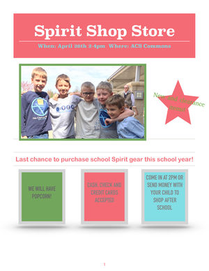 Enlarge image Spirit Shop Spring Flyer 2