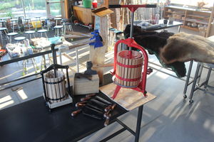 Cider Press and Drawknife