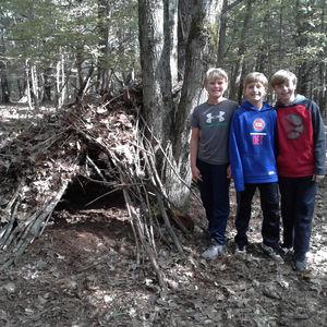 Survival Camp 2018 Boys Squirrel Hut