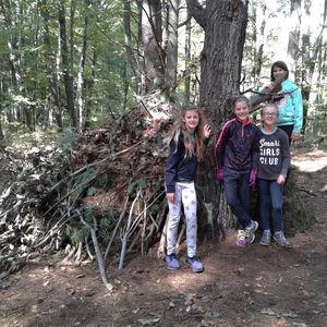 Survival Camp 2018 Girls Squirrel Hut