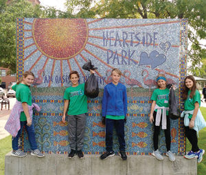 Service project -Heartside -sign